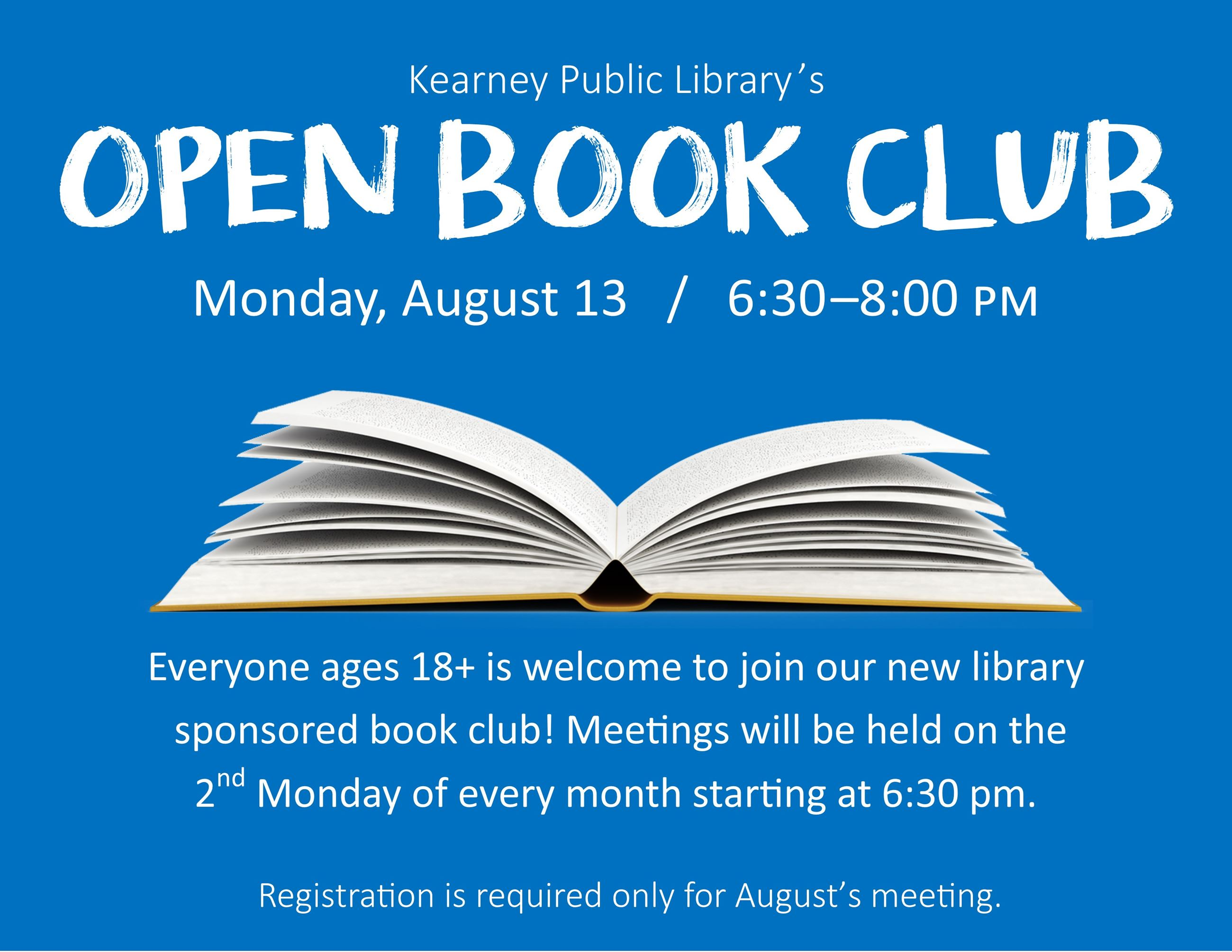 Open Book Club August 2018